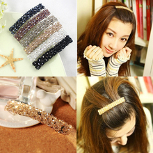 Buy 2016 New Fashion Full Crystal Lovely Handmade Beads Barrette Hairclips Hair Pin Girl Women Hair Accessories Korean Style Hot for $1.49 in AliExpress store