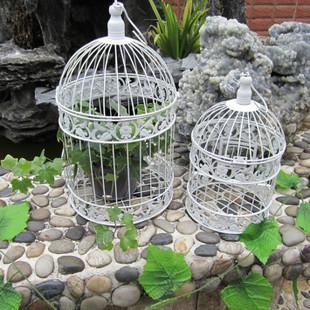 Mode fer forg cage oiseaux de fer blanc petite cage d - Cage oiseau decoration ...