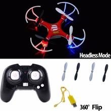 New Red and White Mini Helicopter 2.4Ghz 4-Axis UAV RTF UFO Gyro RC Quadcopter Drone Aerocraft Gift for Kids