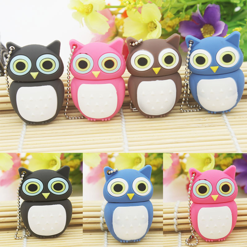 Night owl USB Flash Drive Gift Animal cartoon pendrive 4GB/8GB/16GB Wholesale Novel lovely decorations u disk usb 2.0 wholesale(China (Mainland))