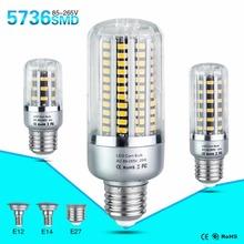 LED Bulb Lamp E27 E14 E12 85-265V SMD 5736 5W 10W 15W 20W 25W Light Bulbs Lampada LED Diode Lamps Energy Saving Lights for Home(China (Mainland))
