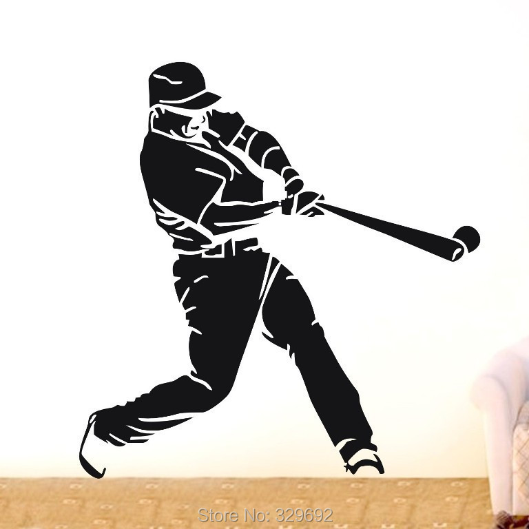 Online get cheap baseball wall murals for Baseball mural wallpaper