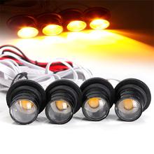 2015 Brand New Car Truck 4W Strobe Emergency Warning Eagle Eye Yellow Light Headlight 4 LED(China (Mainland))