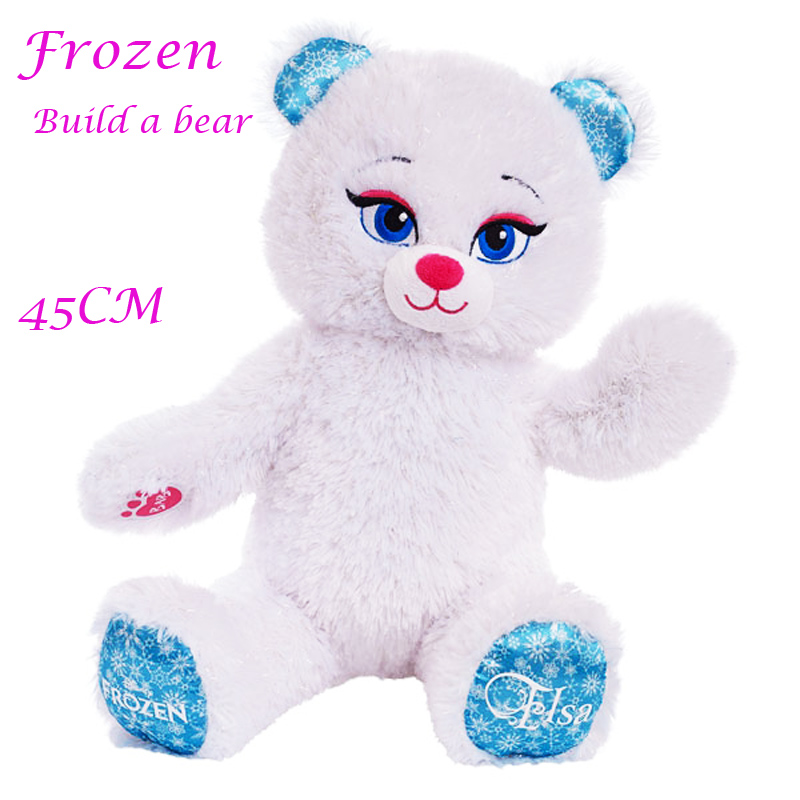 45cm Ice Queen Elsa Build A Bear Plush Toy For Kids New Year Gift Kids Toy Stuffed Bear Doll(China (Mainland))