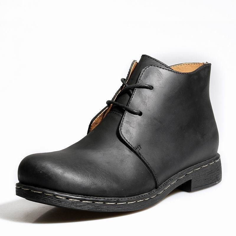 2014 winter new stylish mens boots genuine leather lace up