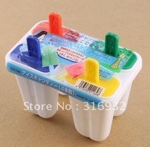 D2 New Arrival, 2set/lot popsicle box diy pudding ice cream mould, free shipping