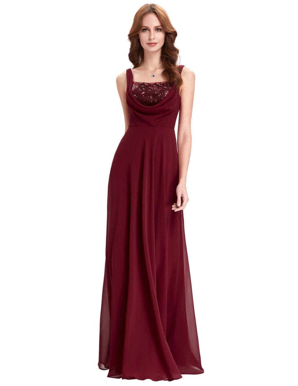 Elegant bridal dress spaghetti strap cheap bridesmaid dresses under 50