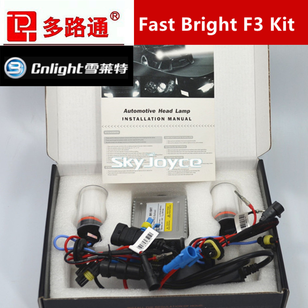 1 set 35W Fast Start HID XENON KIT with Cnlight HID XENON BULB H1 H3 H7 H8 H9 H10 H11 9005/HB3/9145 9006/HB5 880/881/H27(China (Mainland))