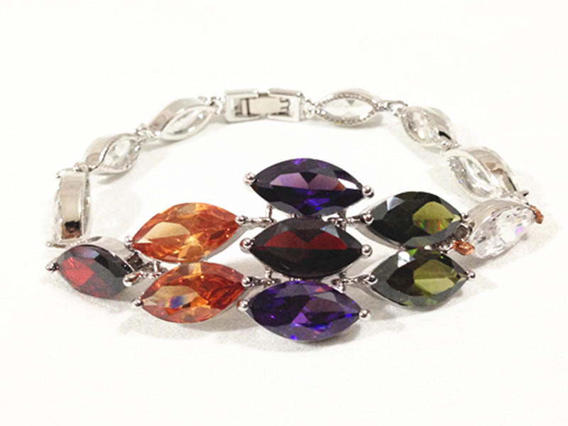 EEL Colorful AAA zircon bracelet Jewelry Made Austrian Crystals  -  fashion jewelry store store