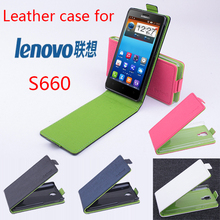 hit color Lenovo S660 case leather case flip up and down