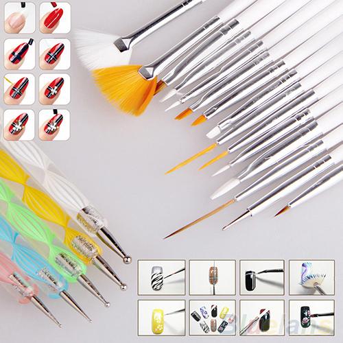 2Nail Art Design Set Dotting Painting Drawing Polish Brush Pen Tools 4QR5 - Watch Web-Fashion store