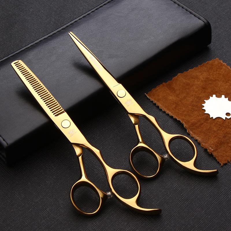 Professional Onwear Hairdressing Scissors Set 6 inch Barber Hair Shears Salon Hairdresser Cutting Thinning schere(China (Mainland))