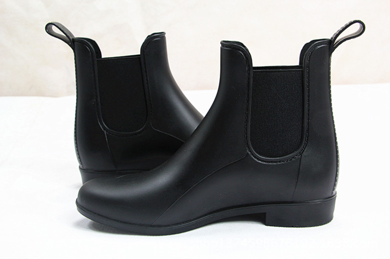Womens Rubber Ankle Rain Boots - Yu Boots