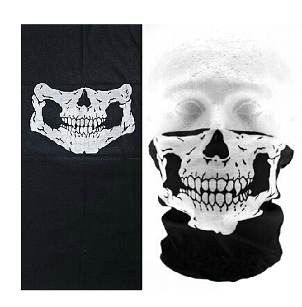 Cycling Bike Skull Skeleton Multi functional Headwear Hat Neck Ghost Scarf Outdoor Motorcycle Bicycle Half Face