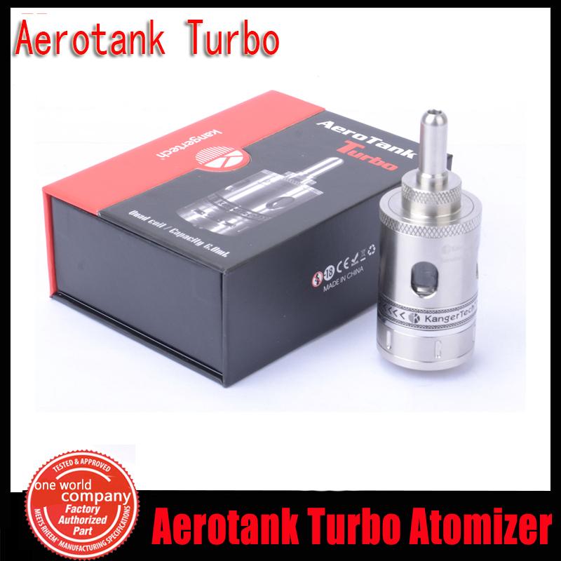 100% Original Kanger Aerotank Turbo Clearomizer Kanger Upgrade Dual Coil Atomizer Aerotank Turbo Atomizer 6ml Tank Kangertech YY