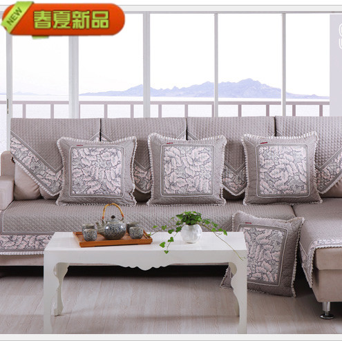 Spring and summer fashion slip-resistant linen sofa cushion leather sofa cushion quilting sofa set(China (Mainland))