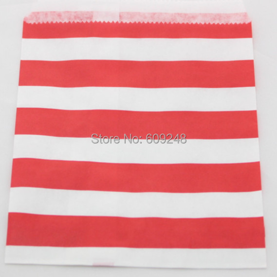 100pcs Mixed Colors Cheap Holiday Buffet Candy Treat Red Sailor Stripe Paper Party Favor Gift Bags(China (Mainland))