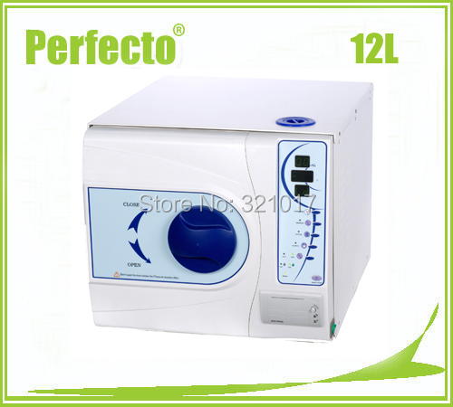 Steam Autoclave Class B 12L Vacuum Steam Sterilizer WITH PRINTER Free Shipping(China (Mainland))