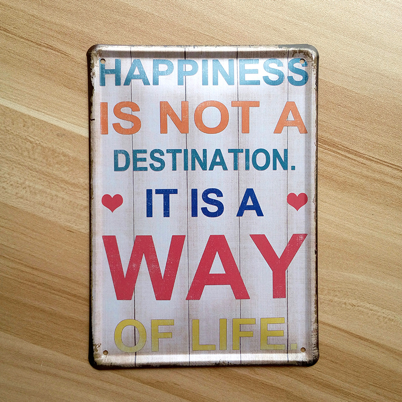 Slogan Doorplate Metal tin signs home decoration retro iron poster Vintage House Coffee bar painting 15x20 cm Free shipping