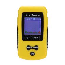 Portable Wireless Fish Finder Fishing 0.6 to 40m Depth Sonar Sensor Fishfinder Color TN LCD Display Alarm Transducer Sounder(China (Mainland))