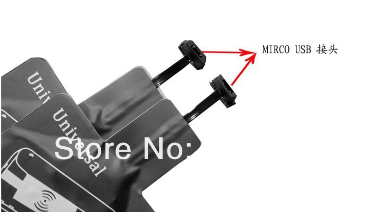New Universal Wireless Charger Receiver For XIAO MI,For HUAWEI Ascend P6,For Nokia 920,For Samsung S4,For Motorola,For Lenovo(China (Mainland))