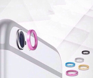 5 colors Cool Rear Camera Lens Metal Protective Ring Guard Circle Cover Case Protector for iPhone6 iPhone 6 4.7 plus 5.5 LP47A(China (Mainland))