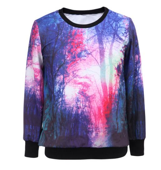 High Quality Women's Clothes Brand New Plant Print 3d Hoodies Sweatshirt Women Hoodies Sweatshirts Fleece Pullover Free Shipping(China (Mainland))