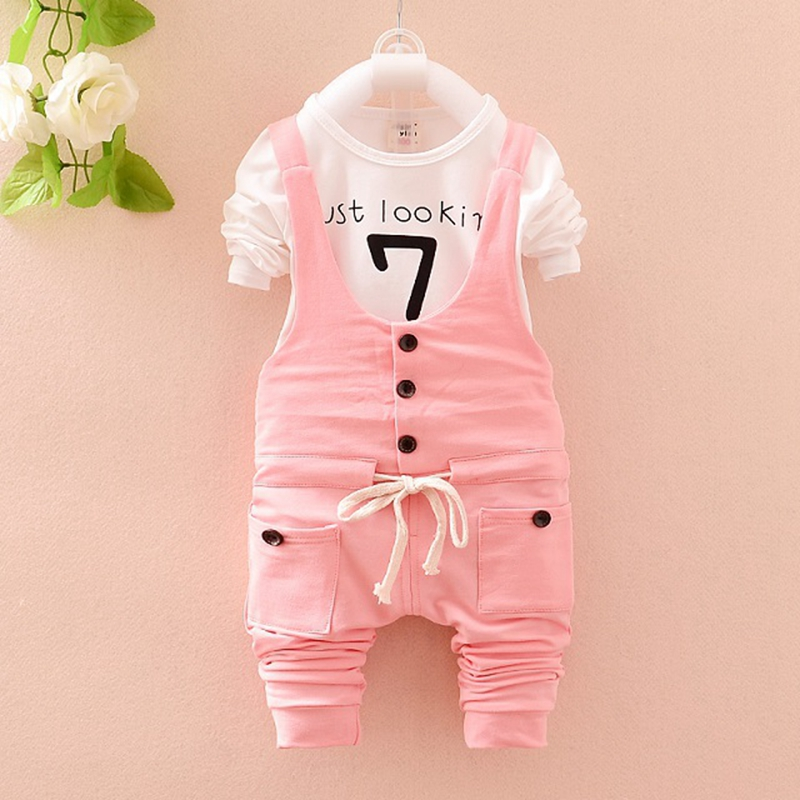 Baby set Toddler girl cotton spring clothes set 2 pcs white letter t-shirt + long pants sets fashion baby girl suit baby clothes(China (Mainland))