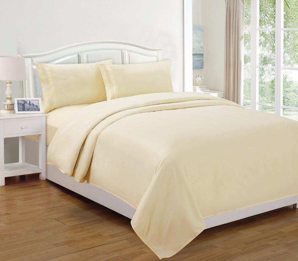 Marque maison tissu ensemble de literie jeu de feuilles reine king size lin - Prix lit king size 200x200 ...