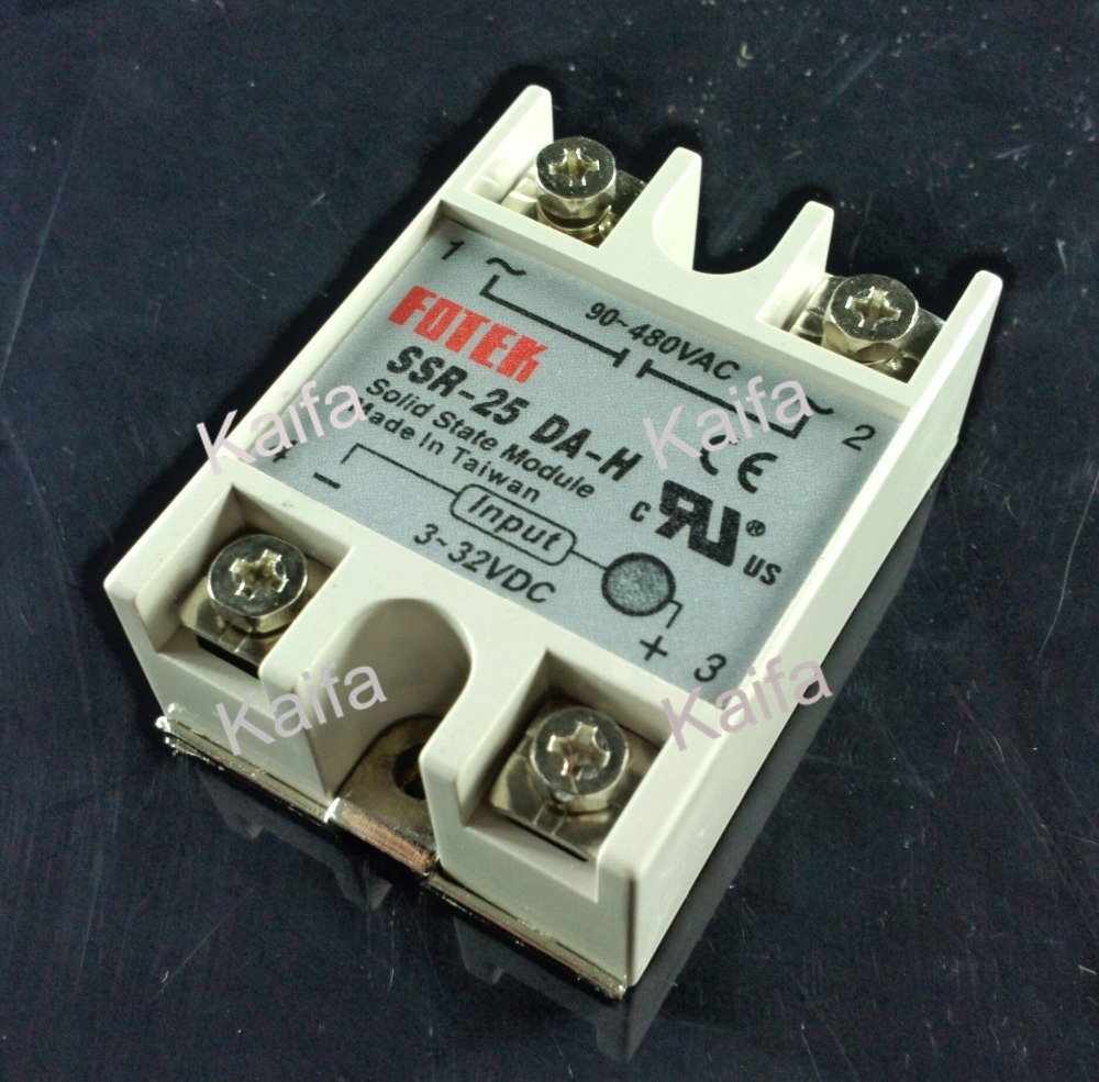 free shipping solid state relay SSR-25DA-H 25A SSR 25DA H DC TO AC relay solid state Resistance Regulator(China (Mainland))