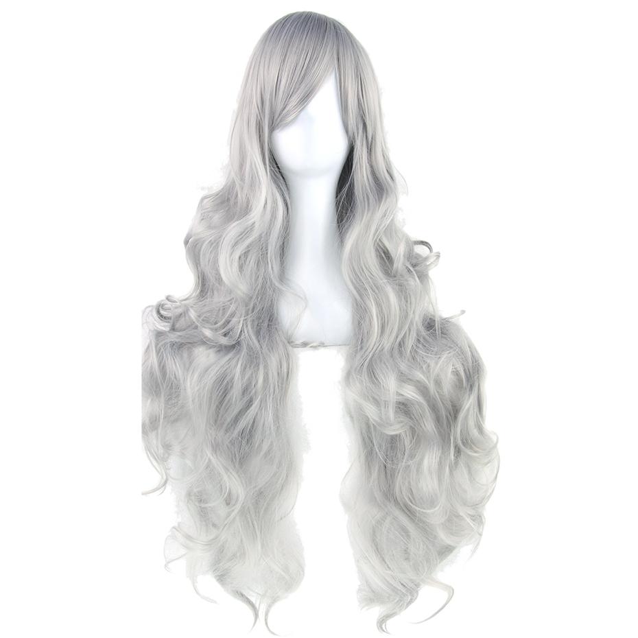 Soowee 20 Colors Long Women Wigs Heat Resistant White Blonde Purple Wavy Cosplay Wig(China (Mainland))
