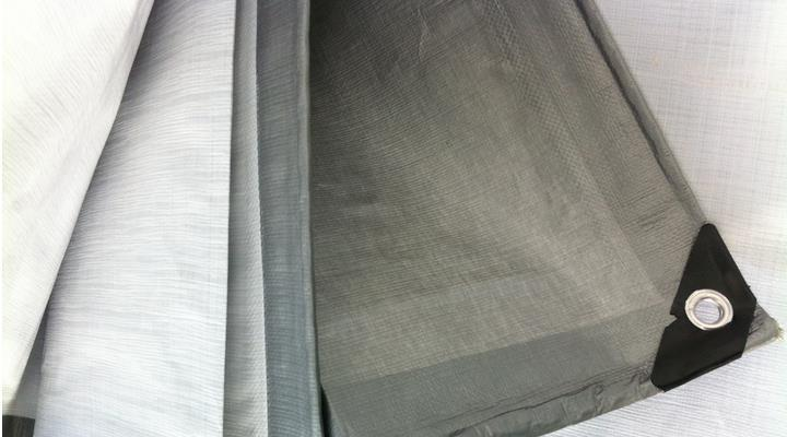 Free shipping silver gray 4mX 3m waterproof fabric, outdoor tarps, truck tarps, sun and dust cloth(China (Mainland))
