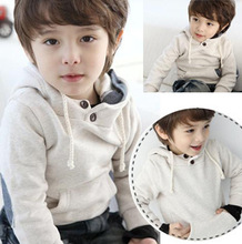 Hot 2-11 Years Old Child Cotton Fleece Hoodies Kids Casual/Sport Jackets Solid Embroidery Hoodies For Children(China (Mainland))