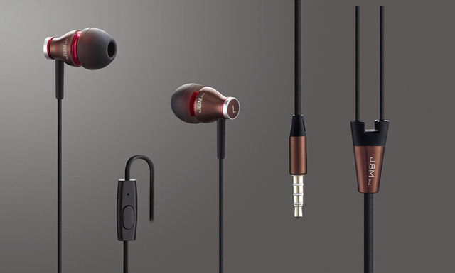 JBMMJ900 brown high quality earphone earbuds headphone headset for mp3 mp4 cellphone with mic