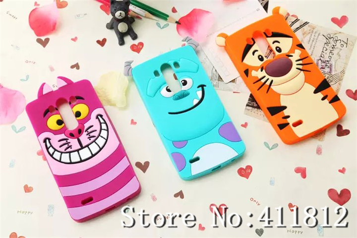 LG Optimus G3 3D Newest Cute Classic Cartoon Soft Silicone Gel Back Skin Case Cover - Best Gadgets store