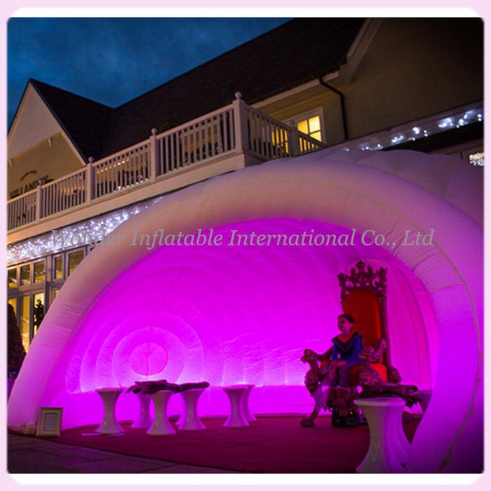 Parti utilisation shell en forme igloo gonflable, Chapiteau gonflable, Gonflable dôme tentes avec led(China (Mainland))