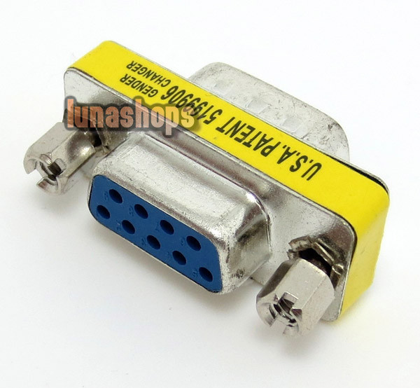 Serial Converter Adapter DB9 9 Pin RS-232 Male To Female LN003053(China (Mainland))