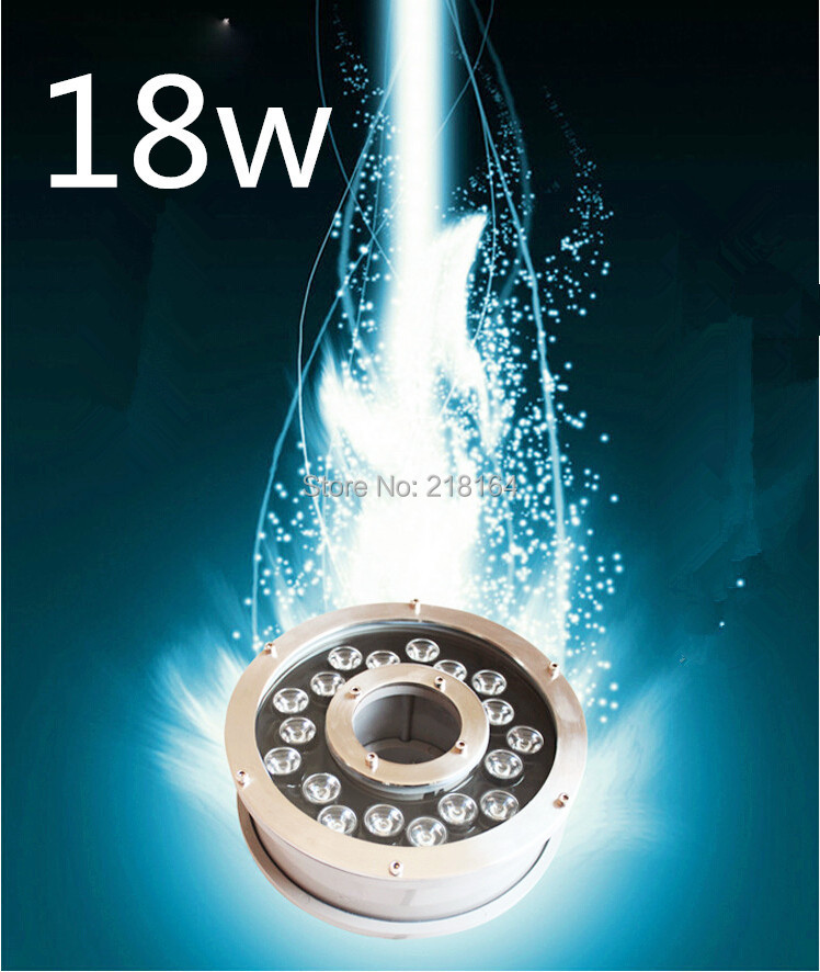 4wires RGB underwater pool led, Fountain light 18w,pond lamp 18w 24VDC waterproof IP68,stainless steel(China (Mainland))