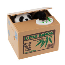 Panda MoneyBox Money Coin Bank Automated Steal Coin Piggy Bank Money Saving Box Moneybox Gifts for Kids Jar Alcancias Gato (China (Mainland))