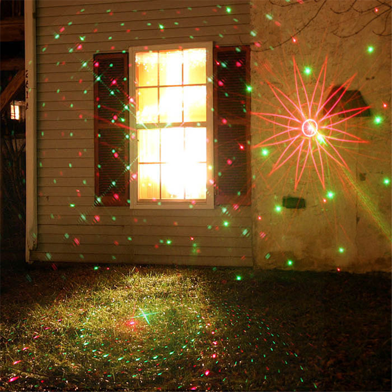 8 RG Patterns Waterproof Outdoor Led Landscape Lighting Garden Lawn With Remote Red Green Laser Projector Stars(China (Mainland))