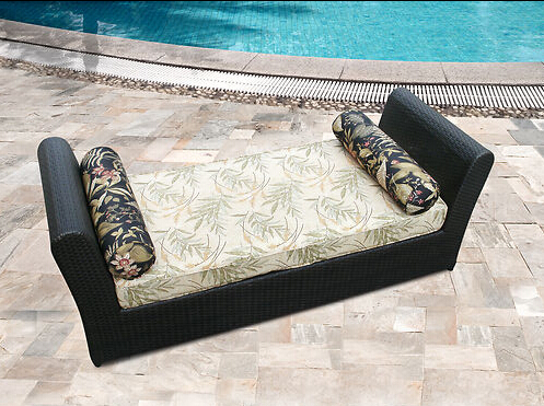 Outdoor Wicker Patio outdoor rattan Furniture Chaise Lounger(China (Mainland))