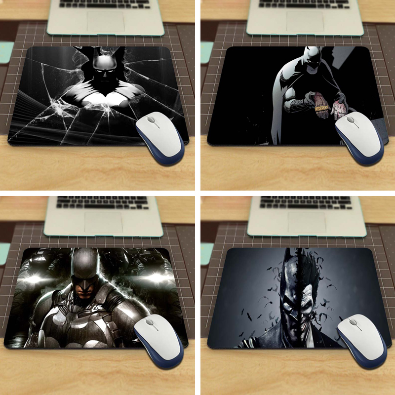 New Arrival 2017 Custom Batman Slim Silicone Laser Mouse Pad Superhero Anti-Slip Mousepad Soft Rubber Mat for Optical Mice