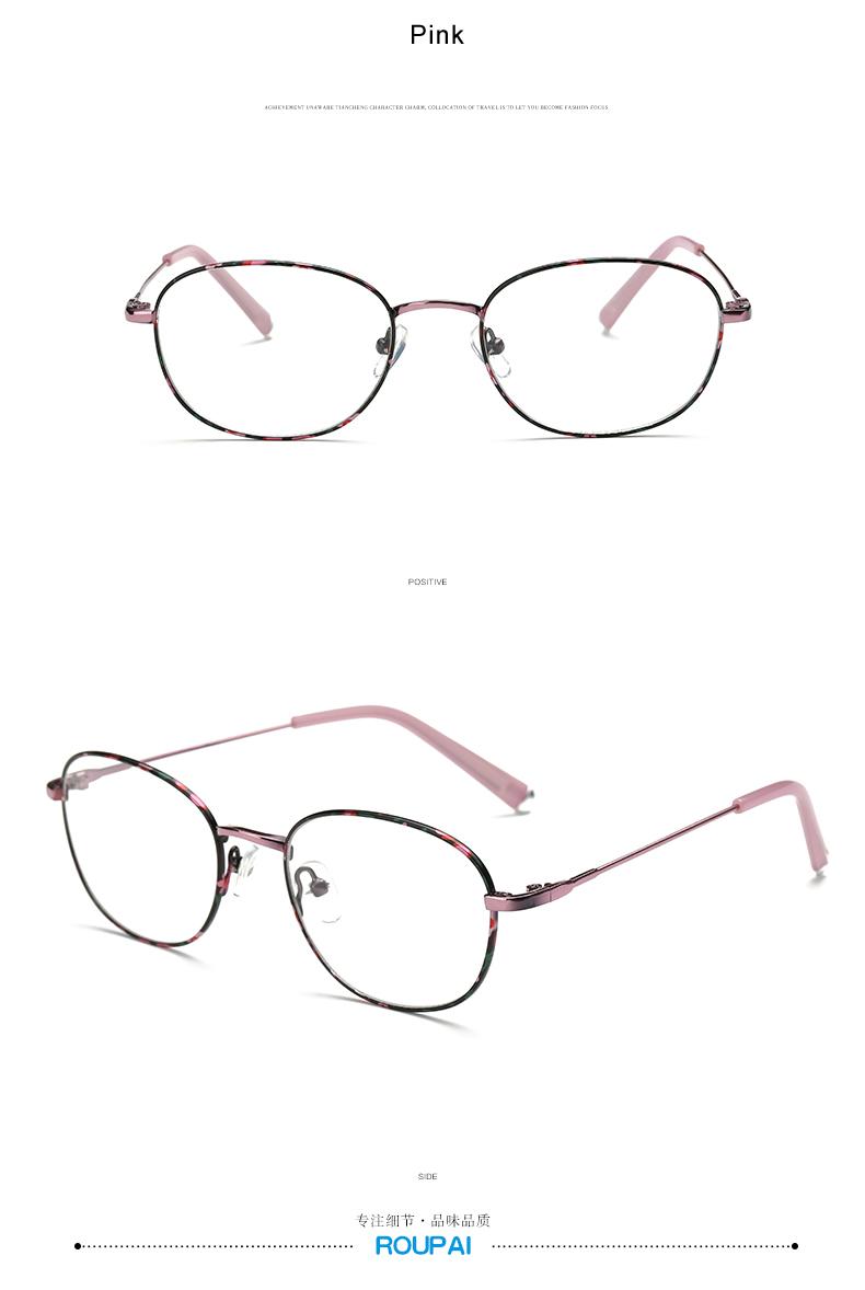 Großhandel Großhandels Oval Thin Metal Glasses Frames Klare Linse ...