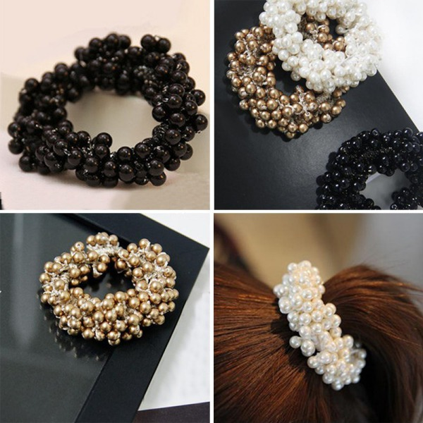 Craft Woven Beads Elastic Hair Ring Headband Rubber Accessories Hair Ornaments New Arrival(China (Mainland))