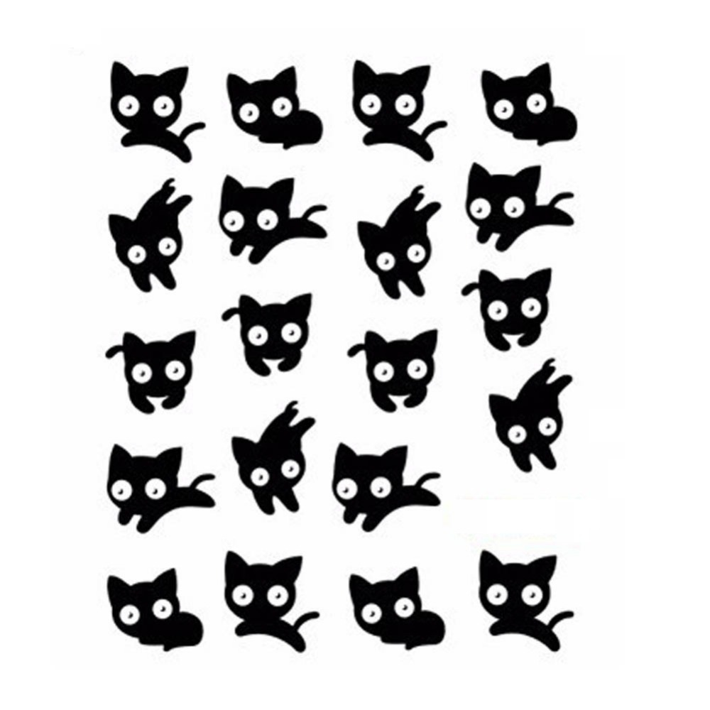 1 sheet!!! NEW 3D Beauty Black Cute Cat Nail Art Sexy Stickers Decals Water Transfer Wraps Manicure Styling Tools(China (Mainland))