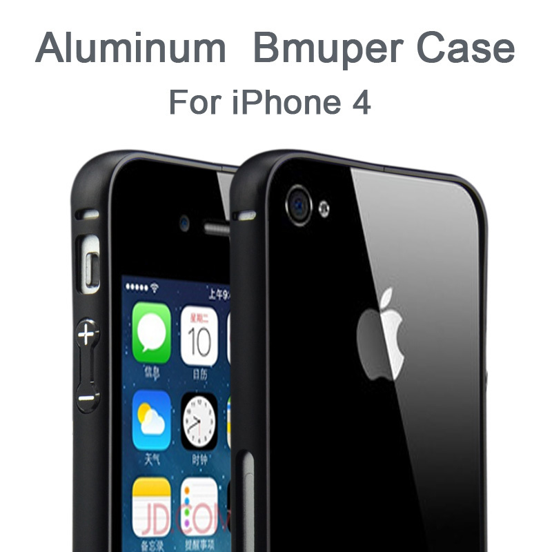 Brand New Top Quality Frame Call Phone Cover Protective Cases Luxury Metal Aluminum Bumper Case For Apple iPhone 4 4S 4G(China (Mainland))