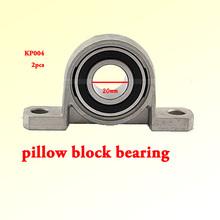Hot! 2pcs/lot P004 KP004 Bore 20mm Pillow Block Bearings Flange, Zinc Alloy, Auto Self adjust center, DIY, CNC, high quality(China (Mainland))