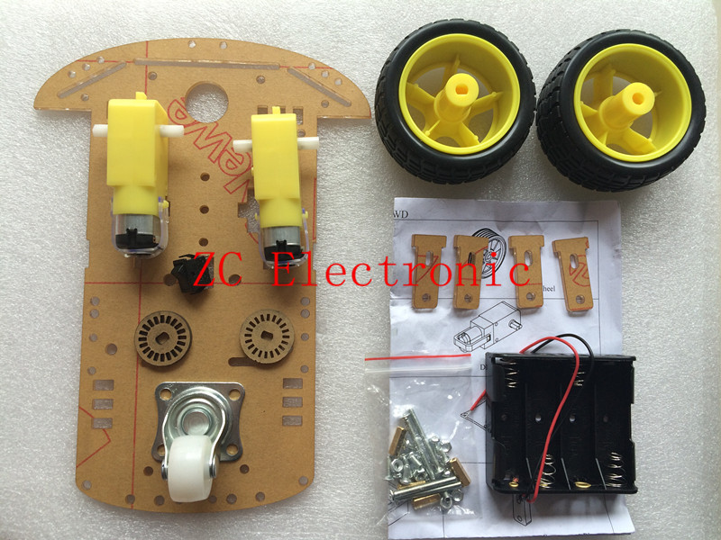 Smart car chassis 2wd /Tracing car /The robot car chassis for arduino /With code disc / tachometer /Send the battery box(China (Mainland))