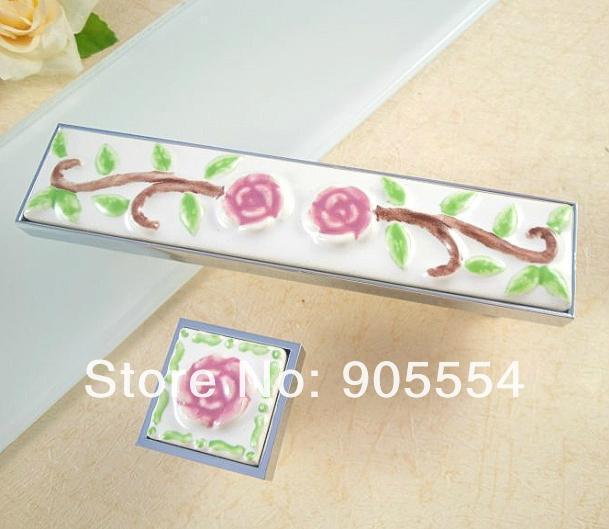 96mm Free shipping Ceramic Cabinets Door Handle Drawer Wardrobe Cupboard Door Handle<br><br>Aliexpress