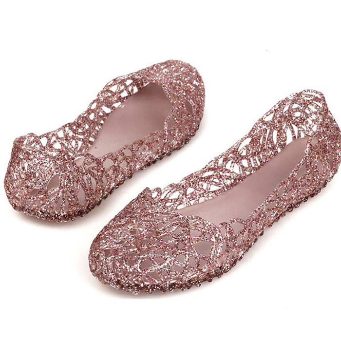 New 2015 sandals crystal plastic shoes flatbottomed jelly shoes bird's-nest women's shoes flat heel single shoes(China (Mainland))